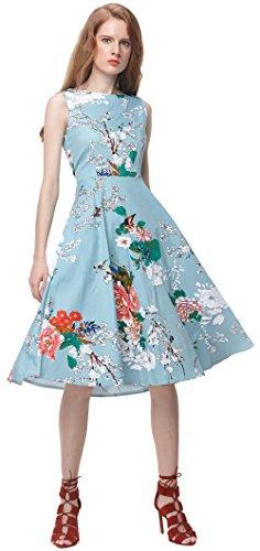Vídeo de la mujer Audrey Hepburn Floral Vintage Rockabilly Picnic jardín té vestido verde verde menta 44