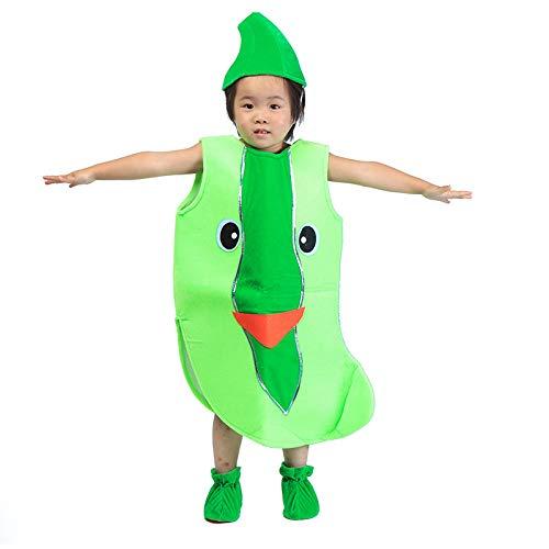 Kinder Obst Gemüse Kostüme Kinder Grüne Gurke Party Kleidung Kostüme für Halloween Cosplay Weihnachtsferien Kleinkind Jungen Mädchen