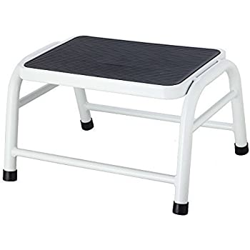 Home Discount® One Step Stool Metal Anti Slip Rubber Mat In White Bathroom Kitchen  sc 1 st  Amazon UK & Home Discount® One Step Stool Metal Anti Slip Rubber Mat In White ... islam-shia.org