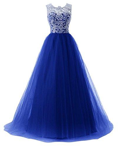 PLAER femmes Sexy Dentelle Engrener robe demoiselle d'honneur de mariage robe fête soir robe cocktail robe Bleu Marine