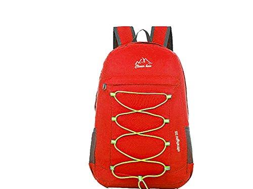 Donne Uomini Wtus Nuove Daypacks Pieghevoli Grande Capacità Zaino Alla Moda Di Corsa Di Svago Zainetto Per Esterno Rosso Sport