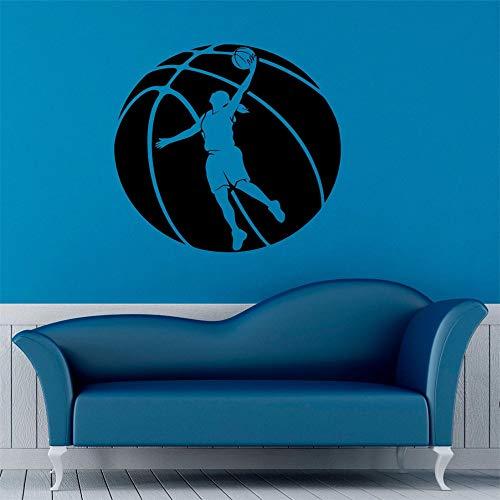 Kunst Wohnkultur Basketball Spieler Girs Zimmer Vinyl Aufkleber Raumbibliothek Dekoration Wandbild Poster 57 * 57 cm