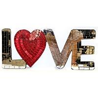 Mosaico, a forma di cuore, con scritta