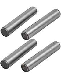 Tradico® Carbon Steel GB117 55mm Length 10mm Small End Diameter Taper Pin 4pcs