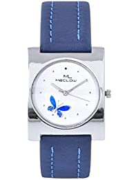 Latest Designer Fashionable Blue Leather Belt Watch Square White Dial Watch Casual / Formal / Party Wear Watches...
