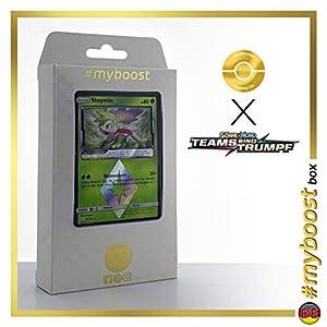 Shaymin 10/181 Holo Prisma - #myboost X Sonne & Mond 9 Teams Sind Trumpf - Box de 10 Cartas Pokémon Alemán
