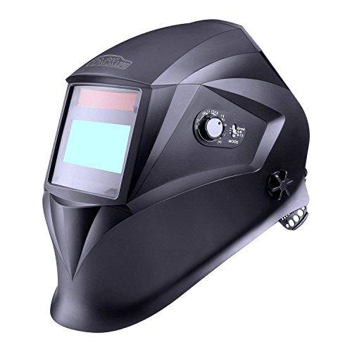 Casque de soudage, Tacklife PAH04D classe optique : 1/1/1/1/avec 4 capteurs (Gamme d'ombre complète4/4-8/9-13) /pour plus des modes (TIG MIG MAG etc) /Sac de rangement le-6 Verres de protection