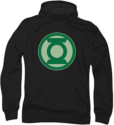 Green Lantern - Herren-Grün Symbol Hoodie, XXX-Large, Black Green Lantern Symbol Hoodie