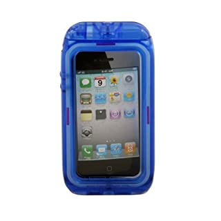 Aryca WS13BL Wave 2 Waterproof Case for iPhone 4/4S - 1 Pack - Retail Packaging - Blue