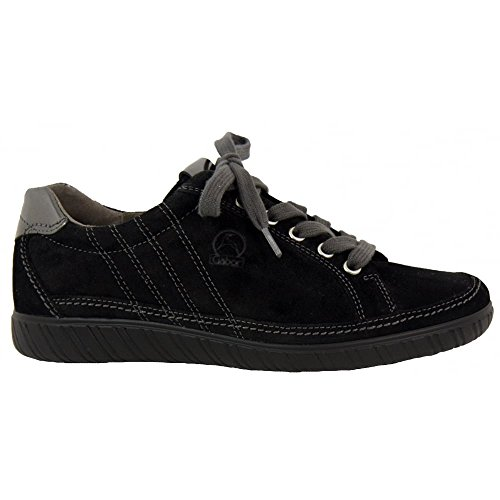 Gabor Shoes Comfort Basic, Scarpe Stringate Derby Donna Blk Suede