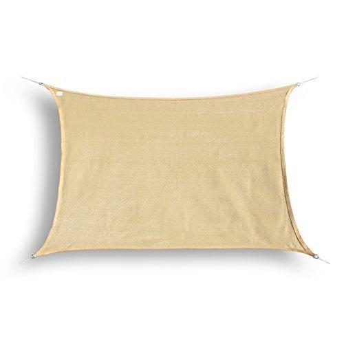 hanSe® Marken Sonnensegel Sonnenschutz Segel Rechteck 3x4 m Sand
