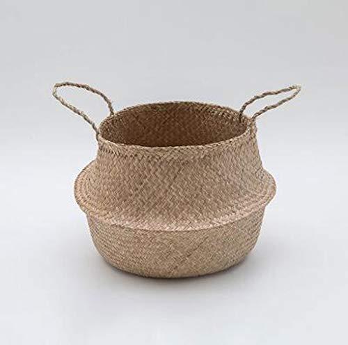 Liting dirty hamper rattan dirty clothes storage basket clothes cestello cesto per la casa cesto della biancheria cesto in tessuto ikea (size : medium)
