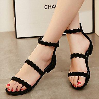 LvYuan Sandali-Ufficio e lavoro Formale Casual-Innovativo Club Shoes-Piatto-Felpato Materiali personalizzati-Nero Tessuto almond gray