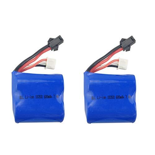 Skytech-batterie (Fytoo 2PCS 7.4V 600mah Lipo Batterie für Syma Q2 Q3 Skytech H100 H102 H106 RC Boot Ersatzakku)