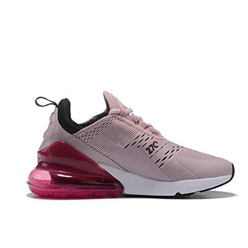 Hojert Air Max 270 Chaussures de Running Compétition Femme Homme Sneakers (39 EU, RoseRougeNoir (3))