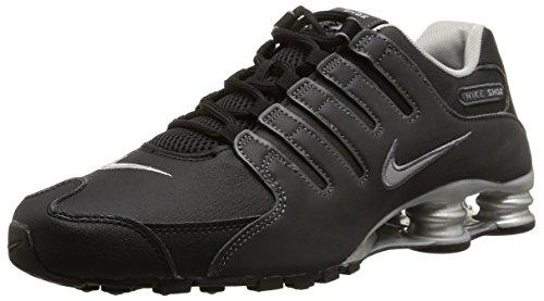 Nike 501524, Chaussures de Course pour Homme Bleu-Rouge - - Blk/Rflct SLVR-Anthrct-Mtllc S, 47.5 EU EU