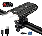 Nestling®2400Lumens CREE XML-T6 LED Bike Light Set USB Rechargeable,IP-65 Waterproof Front Bicycle Lights