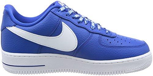 Nike Air Force 1 07 Lv8 Scarpe da Ginnastica, Uomo, Blu (Game Royalwhite), 42 EU (7.5 UK) Blu (Game Royalwhite)