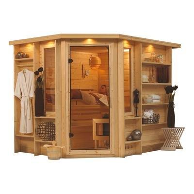 Riona - Karibu Sauna Premium inkl. 9-kW-Ofen