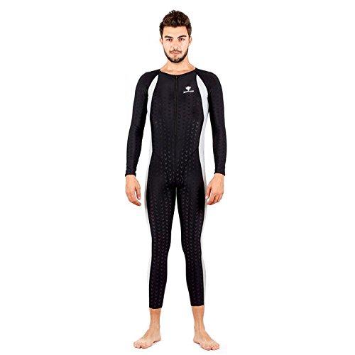 Axjzh Frauen Taucheranzug Schwimmen Kostüme Wettbewerb Badeanzug Surfing Neoprenanzug, Black, XL