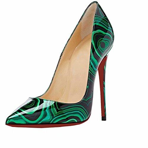 d93591b8 Caitlin Pan Mujeres Bombas de Punta Estrecha Formal Zapatos de Mujer  Tacones de Aguja Alta Sexy Slip On Zapatos de Vestir 35-45 EU