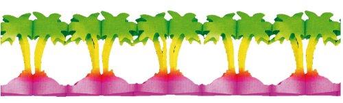 Riethmueller 2787 - Girlande Palmen, 20 cm x 4 m, schwer entflammbar