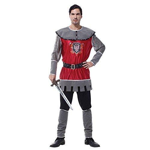 Deluxe Erwachsene Herren König Artus Ritter Prince Mittelalter Kostüm, Einheitsgröße bis 15,2 cm