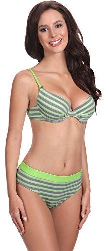 Feba Damen Push Up Bikini mit Shorts 1N61 Muster-402