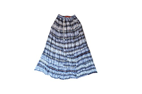 Crapgoos Blue Color Long Skirts For Women & Girls (Blue Mix)