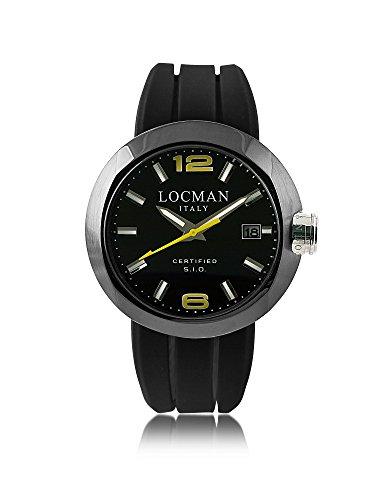 Locman Herren 0422Bkbknyl0sikysk Schwarz Stahl Uhr