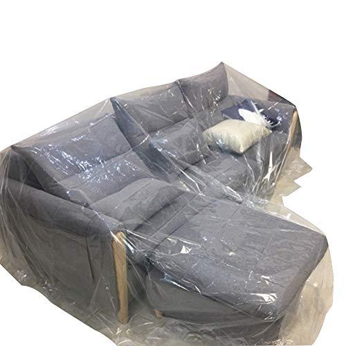 PENGFEI Möbel Staub Tuch Plane Staubschutzhaube Kunststoff Haupterneuerung Tourismus Sofa-Schutz Reinigung Abdeckfolie, Eine Vielzahl Von Größen (Farbe : Klar, größe : 6x4M)