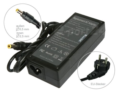 Mitsuru® 65W 18,5V Chargeur AC Adaptateur Secteur pour HP Compaq Presario CQ72 CQ71 5500 CQ70 5000VL 5400 Q56 CQ62 F1044B CQ60 CQ35 CQ32 800CT 800CS/CT 800CS, avec câble d'alimentation