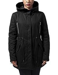 Urban Classics Damen Jacke Ladies Sherpa Lined Cotton Parka