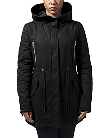 Urban Classics Damen Parka Jacke Ladies Sherpa Lined Cotton Parka,