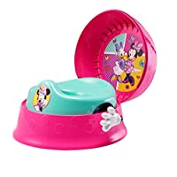 The First Years Miinie Mouse 3-in-1 Potty System | Use with Free Share The Smiles App for Unique Encouragement During Training | Scan Stickers for Animated Rewards | Fun Sounds | Easy Clean Design
