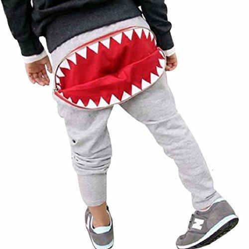 Amison-Spezial-Kinder-Jungen-Mdchen-Reiverschluss-Haifisch-Zhne-Harem-Pants-Hose