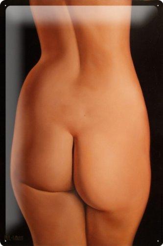 Entra culo Tin Baron bella nuda su una terra cm 20x30 nero