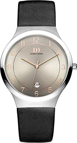 Danish Design Men's Quartz Watch with Grey Dial Analogue Display and Black Leather Bracelet DZ120336