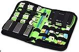 Austuccio/Case/Borsa/ porta hard diskNylon Fabric Storage Holder/Wallet/Case/Bag/Organizer for USB Flash Drives/Thumb Drives/Pen Drives/Jump Drives & HDD/Power Bank/SD Card/Ipod/Cell Phone