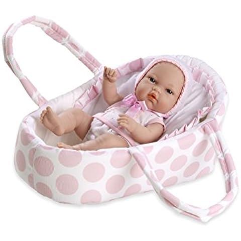 Arias 33 centimetri Eleganza Natal Doll con Polka Baby Carrier in a Bag (rosa)