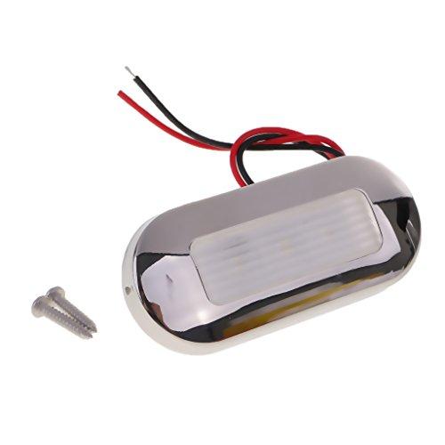 MagiDeal 1 Stück 12V 0.5W IP68 Wasserfest LED Lampe zur Unterwasser Beleuchtung, Zubehör für Boot Marineboot - Weiß