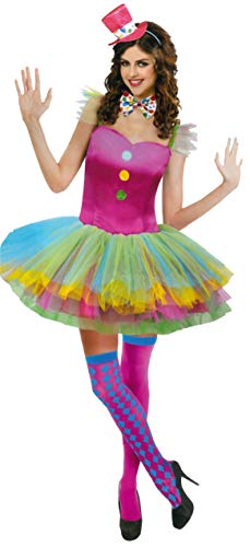 Pink Erwachsene Supergirl Für Kostüm - Brandsseller Damen Kostüm Clown Karneval Party Junggesellinnenabschied Frauen Verkleidung S/M