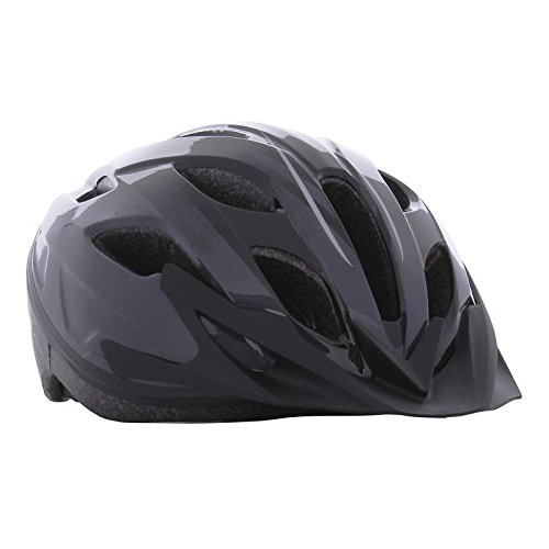 Btwin 100 Bike Helmet Dark Grey 56-61 Cm .Black