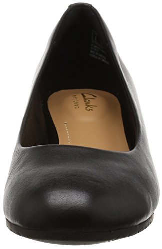 Clarks Damen Vendra Bloom Offene Sandalen Schwarz (Black Leather)