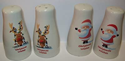Premier Christmas Salt & Pepper Pots - Santa Or Reindeer Sent At Random by Premier