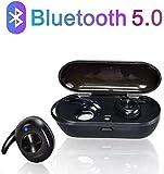 Auricolari Bluetooth Senza Fili TWS Cuffie 5.0 Riduzione del Rumore Wireless Hi-Fi Stereo Senza Fili Sportivi in Ear Auricolare Bluetooth Mini Cuffie per iPhone iPad Samsung Huawei