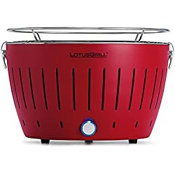 LotusGrill G-RO-34 - Barbacoa de carbón sin humo, color rojo