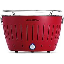 LotusGrill G-RO-34 - Barbacoa de carbón sin humo, color rojo