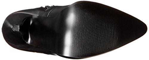 Devious Damen Domina-3000 Kurzschaft Stiefel Noir (Blk Str Pu)
