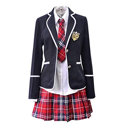 HugAzure Mädchen Kostüm Cosplay Japanischen Anime Kleidung Langarm Schüler Schuluniformen Klassische Navy Matrosenanzug -L (Japanische Mädchen Halloween-kostüm)